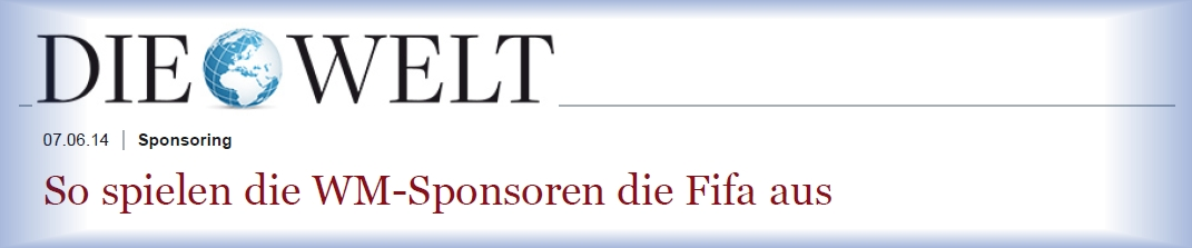 Download Artikel Die Welt - WM-Sponsoren - 07-06-2014